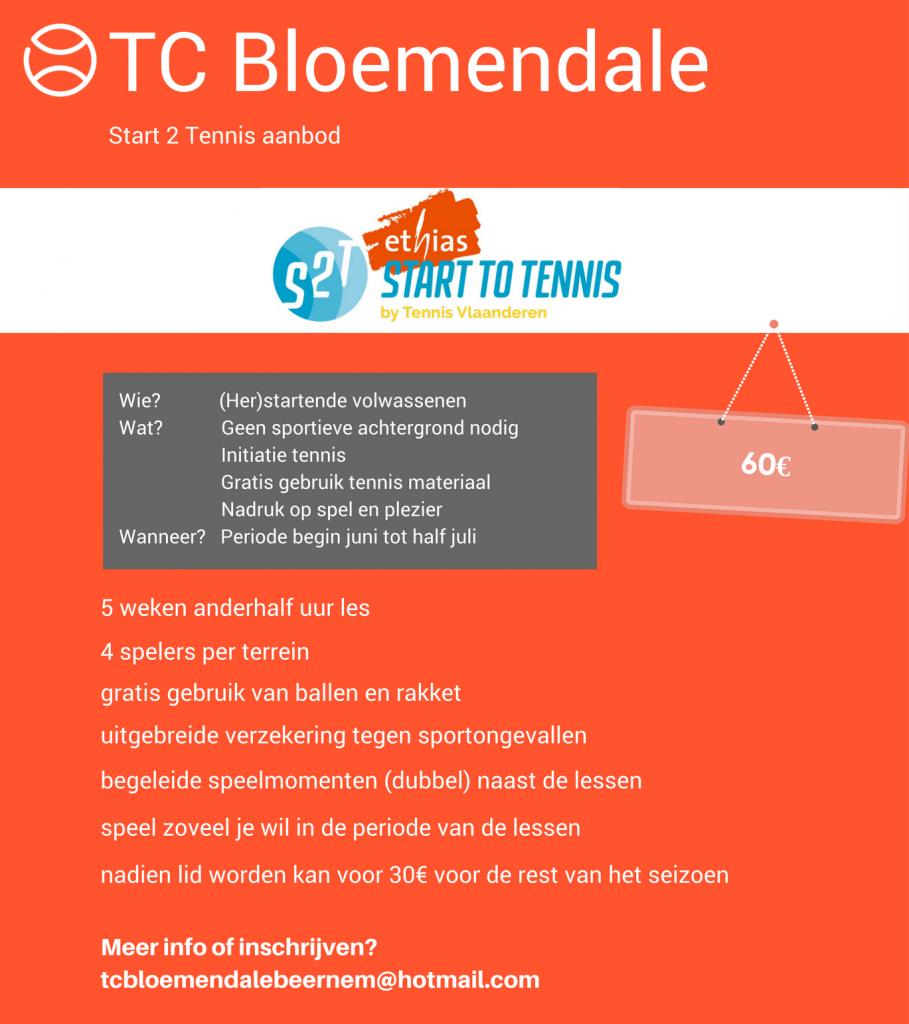 Start 2 Tennis Beernem -  TC Bloemendale
